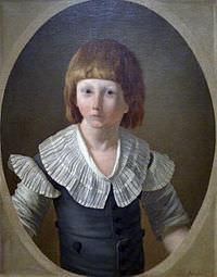 Luigi XVII ritratto per l'ultima volta alla prigione della Torre nel 1793 da Joseph-Marie Vien le Jeune.