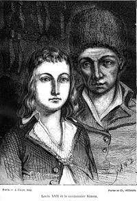 Luigi XVII ed il suo tutore, il ciabattino Antoine Simon.