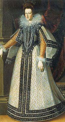 Maria de' Medici, nel 1595, ritratta da Pietro Facchetti.