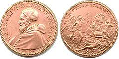 La medaglia commemorativa di Gregorio XIII.
