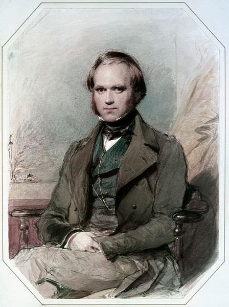 Charles Darwin in un ritratto ad acquerello di George Richmond sul finire degli anni trenta del XIX secolo.