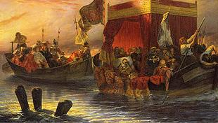 Richelieu trascina i suoi prigionieri sul Rodano, di Hippolyte Delaroche (1829), Wallace Collection, Londra