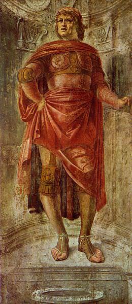 Particolare degli affreschi di Bramante già a Casa Visconti (oggi alla Pinacoteca di Brera)