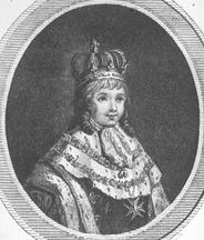 Luigi XVII nelle vesti di re di Francia