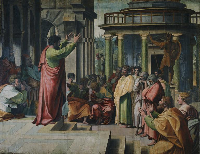 Predica di san Paolo, cartone per arazzo