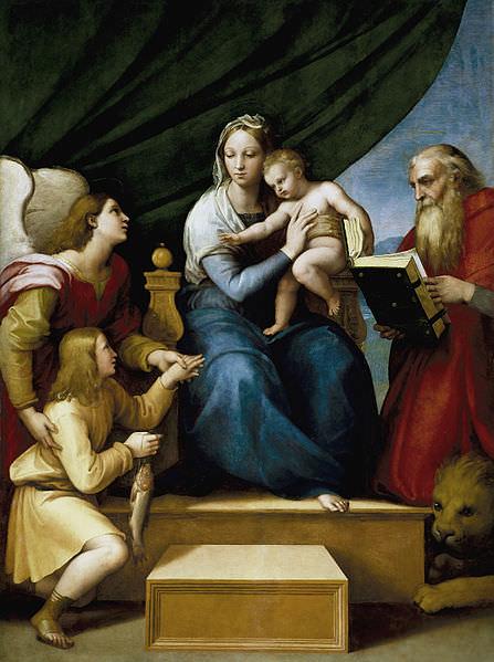 Sacra famiglia Raffaello