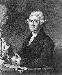 Thomas Jefferson ritratto da Gilbert Stuart.