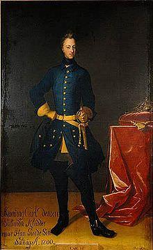 Carlo XII di Svezia in un ritratto del 1700.