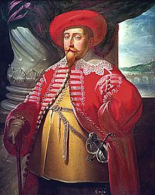 Gustavo II Adolfo, re di Svezia, in abiti da nobile polacco.