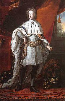 Ritratto di Carlo XII nelle vesti dell'incoronazione nel 1697.
