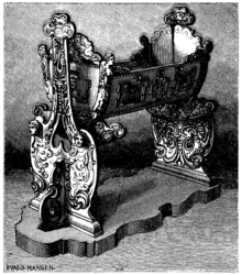 La culla di Carlo XII (incisione da Svenska Familj-Journalen del 1879)