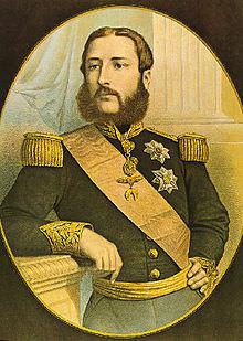 Leopoldo II in un ritratto del 1866.