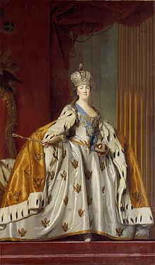 Caterina II con le insegne imperiali di Russia