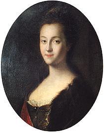 La Gran Principessa Caterina dipinta nel 1745 da Louis Caravaque