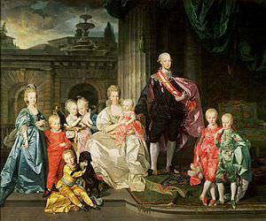 Leopoldo II e la sua famiglia nel 1776.