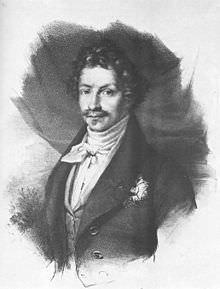 Ludovico I di Baviera in un ritratto ad incisione del 1830 circa.
