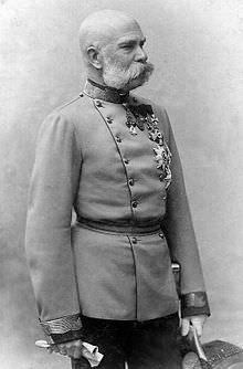 Francesco Giuseppe in una fotografia del 1885.