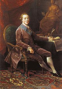 Paolo I di Russia in abiti di corte.